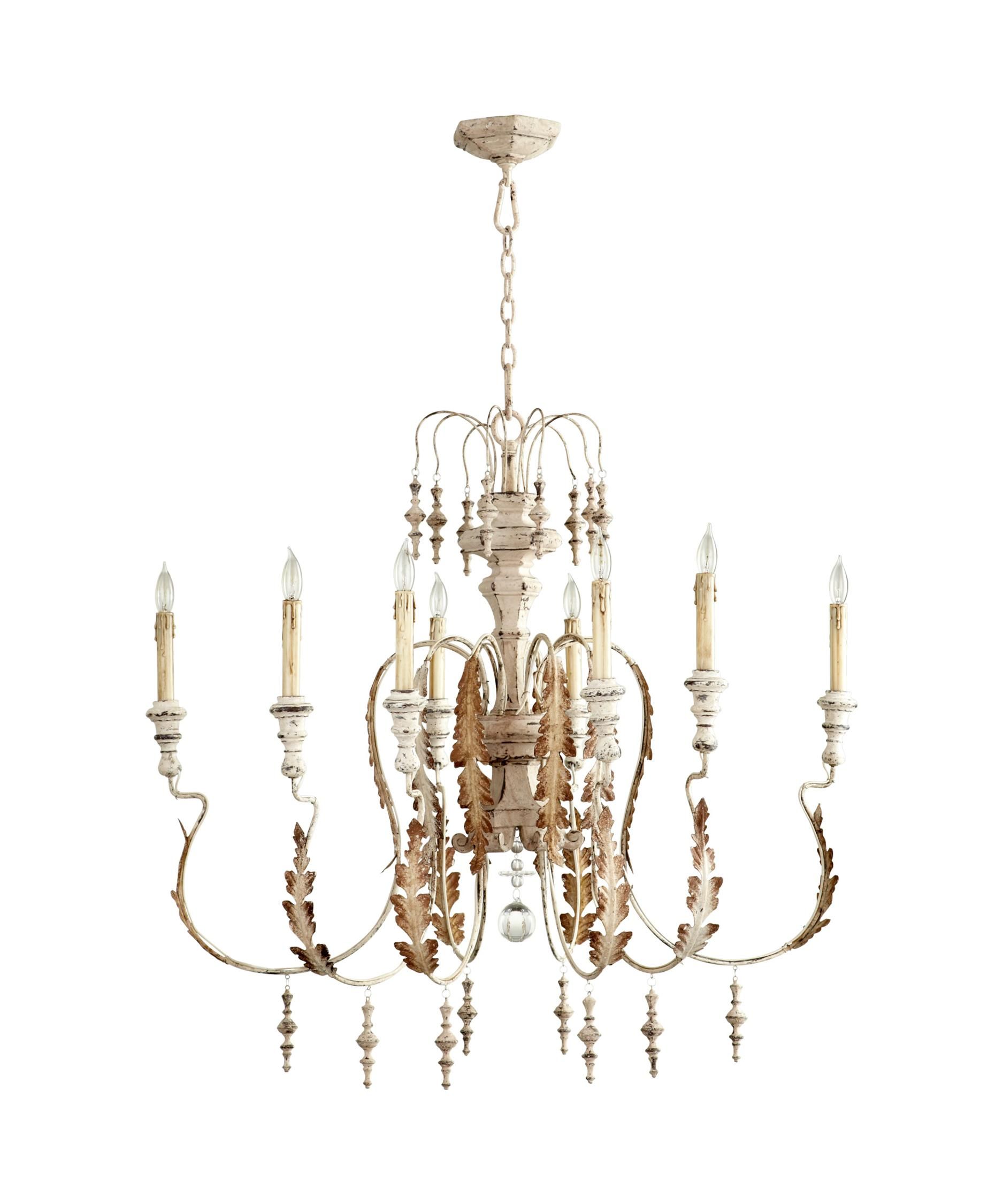 8 Lt Persian White Chandelier