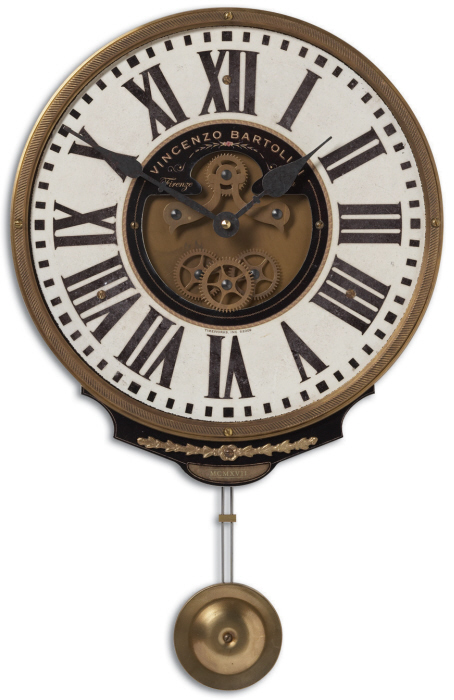 Weathered Cast Brass Wall Clock
