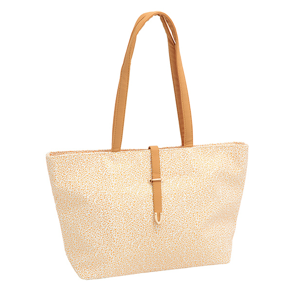 Ivory Faux Leather Tote Bag
