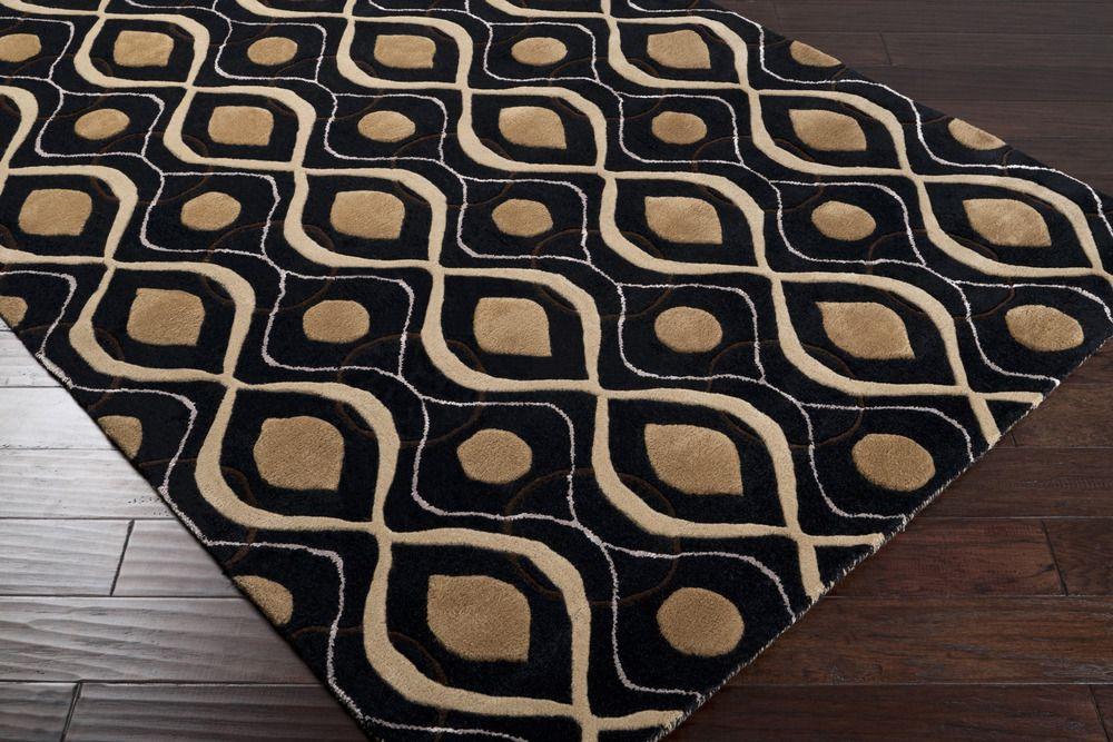 5x8 Black & Brown Pattern Rug