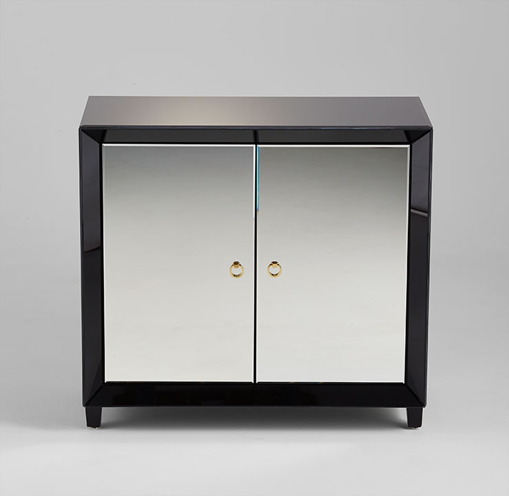 Mirrored Front Cabinet