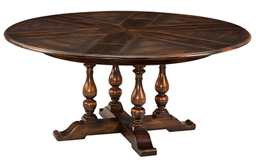 Large Walnut Jupe Dining Table
