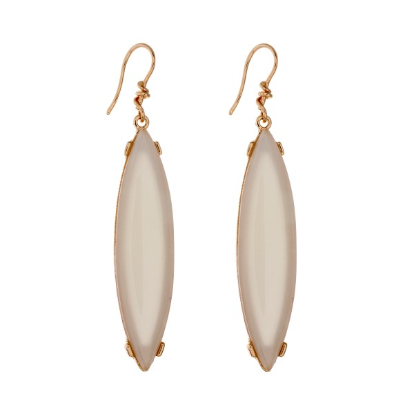 Oval Ivory Earrings