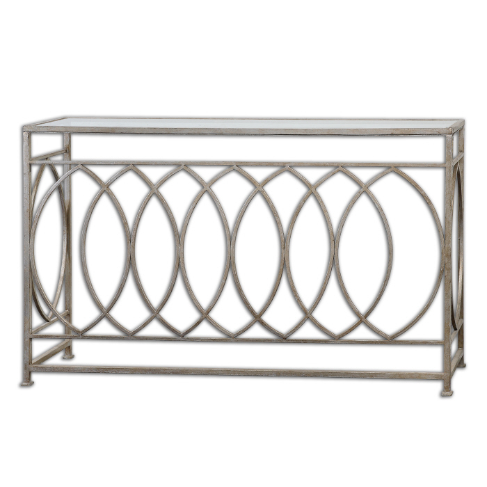 Silver Leafed Console Table