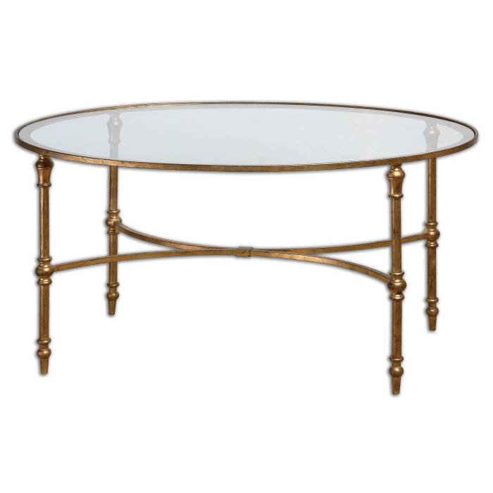 Gold Leafed Coffee Table