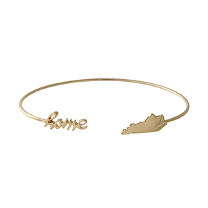 Kentucky Home Gold Tone Bracelet