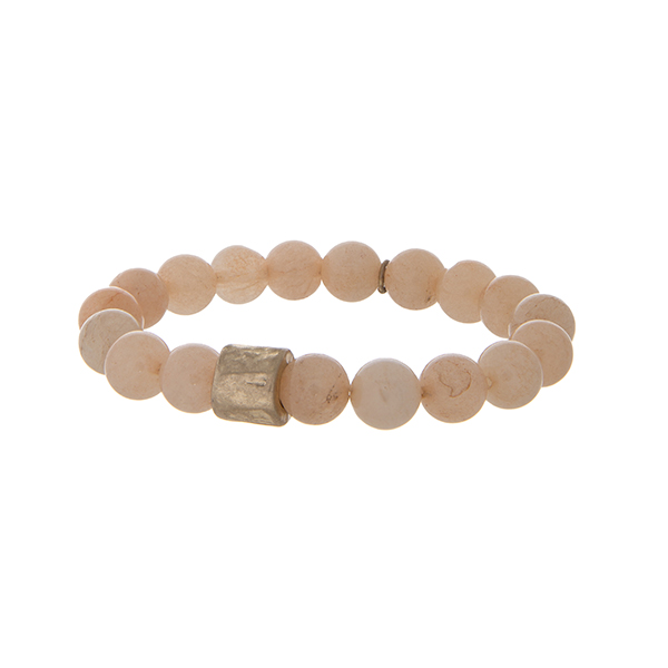Peach Stretch Bracelet
