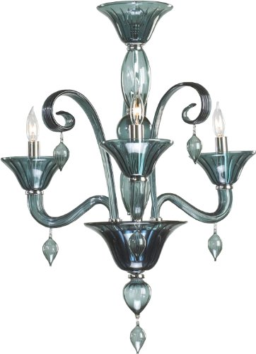 3 Lt Smoke Glass Fixture