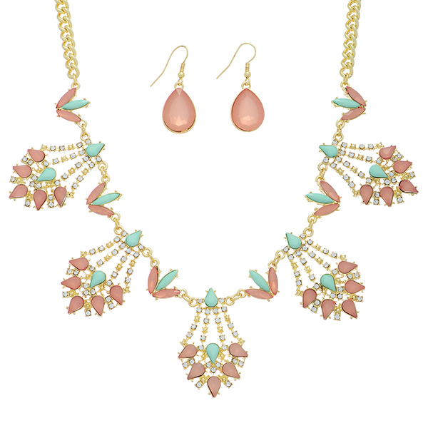 Statement Necklace Set - Mint Green