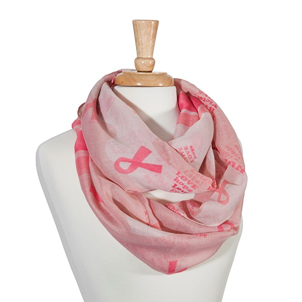 Pink Breast Cancer Awareness Scarf