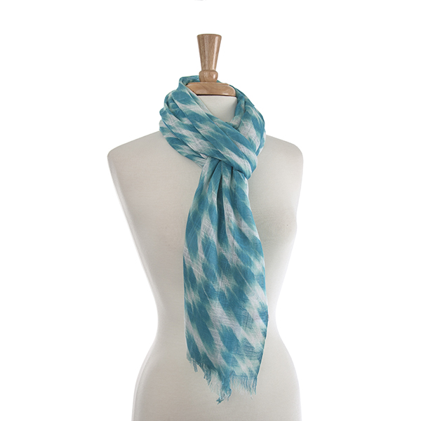 Turquoise and Mint Abstract Scarf