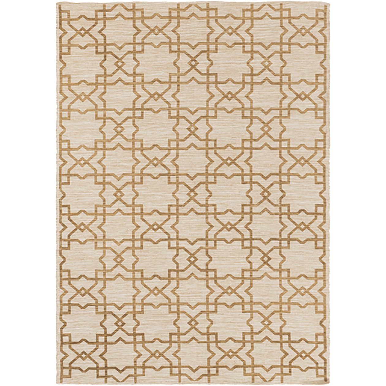 8x10 Gold Flat Weave Rug