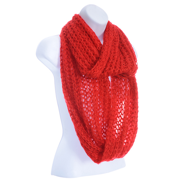 Red Tone Acrylic Scarf