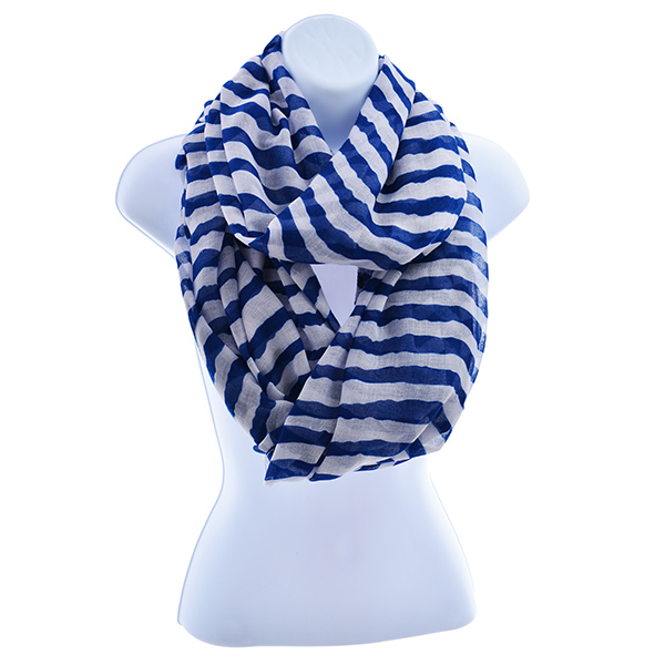 Blue & White Infinity Scarf