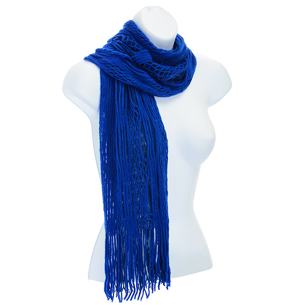 Blue Scarf - Open Knit