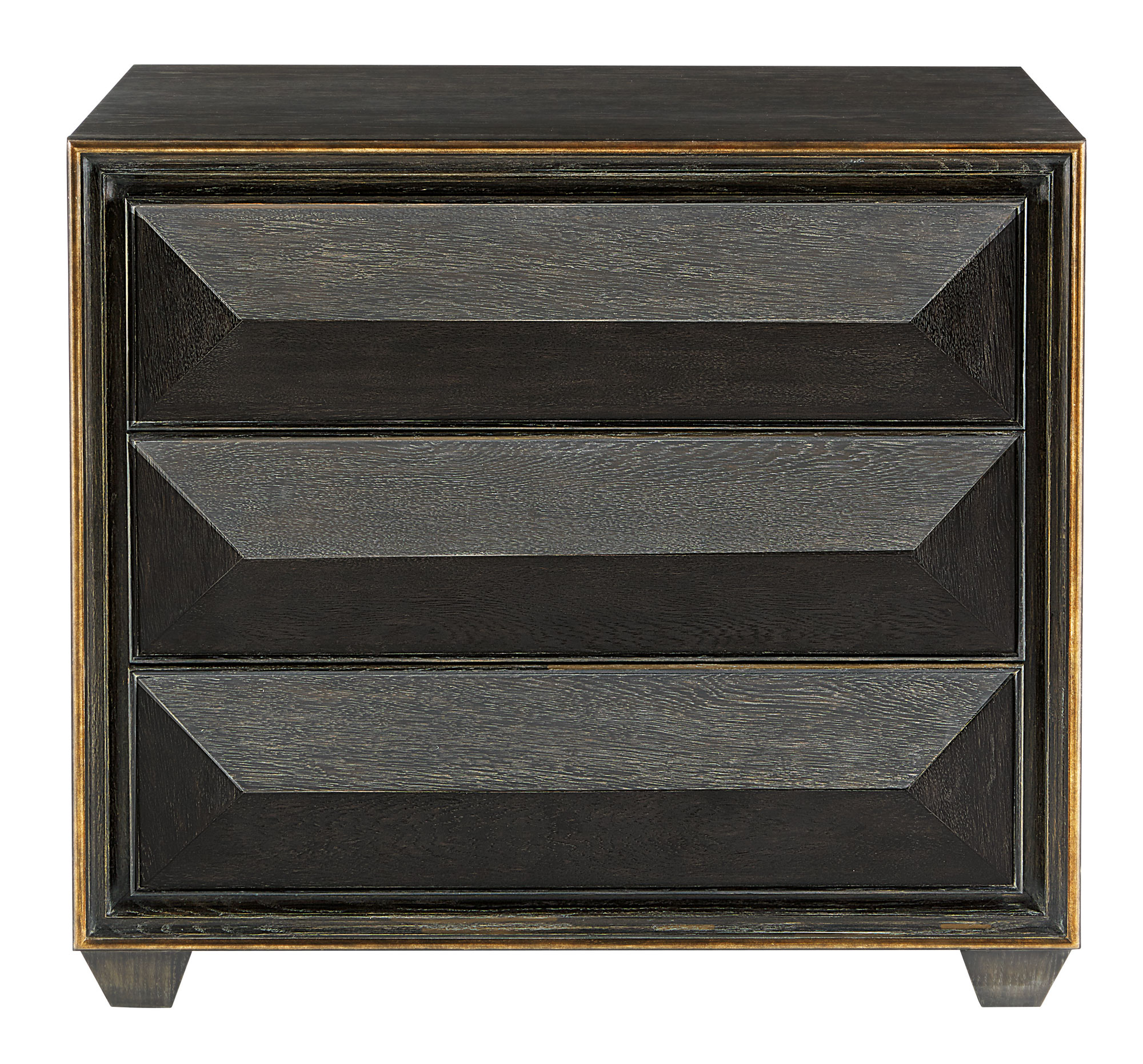 Black 3 Drawer Chest