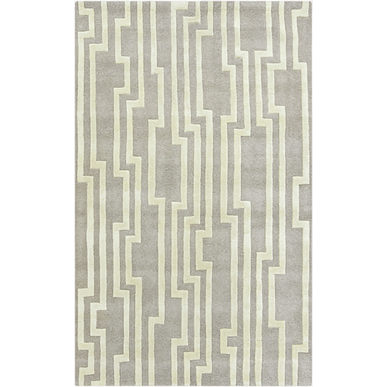 8x11 Light Gray/Ivory Rug