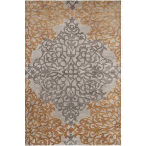 8x11 Olive/Gold Ornate Rug