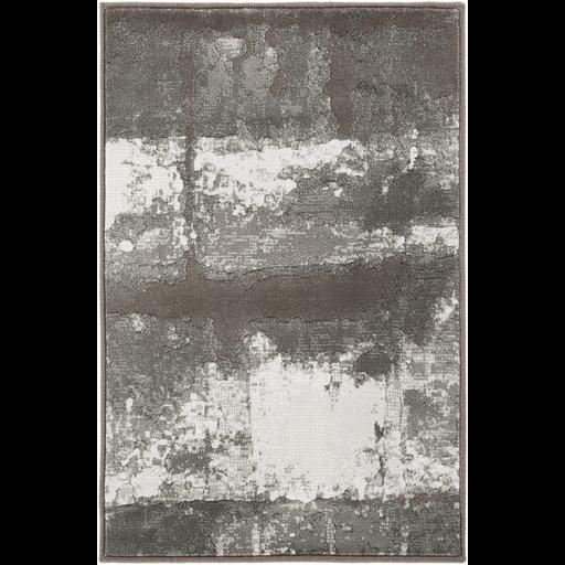 7'10x10 Black/Ivory Rug