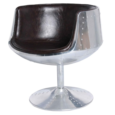 Conan Aluminum Frame Round Back Chair
