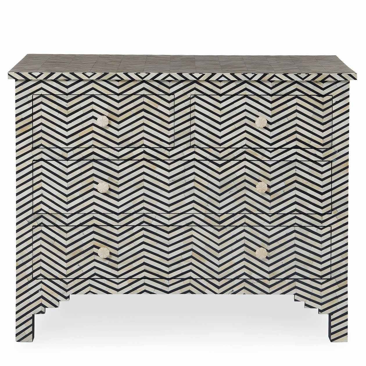 Herringbone Drawer Cabinet