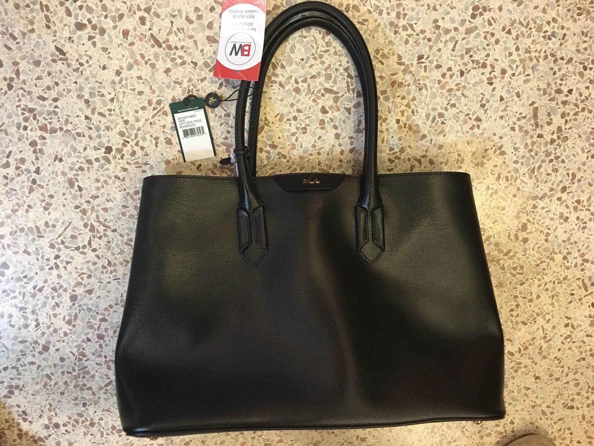 Ralph Lauren Black Leather