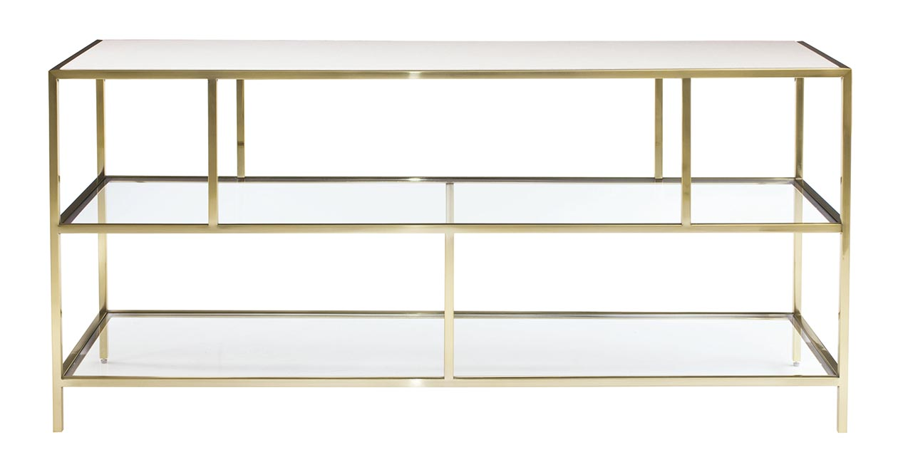Brass Entertainment Console