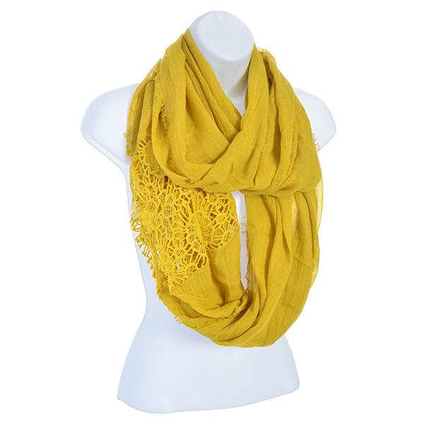 Mustard Yellow Infinity Scarf