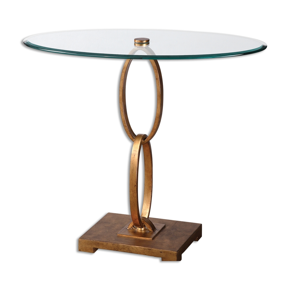 Linking-Ring Iron Accent Table