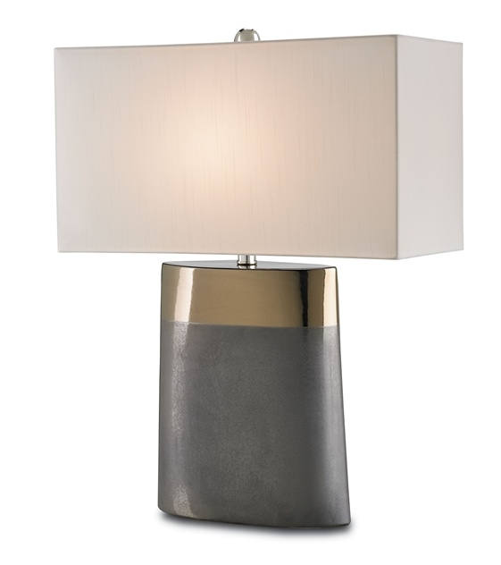 Two-Toned Porcelain Table Lamp