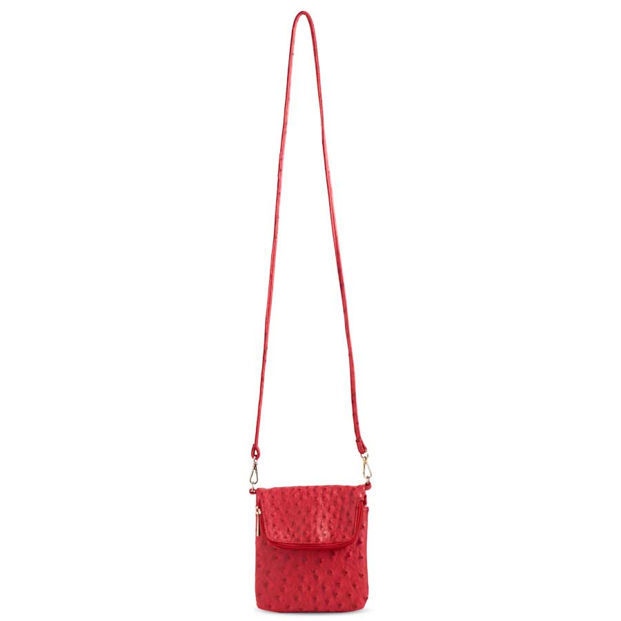 Red Ostrich Bag