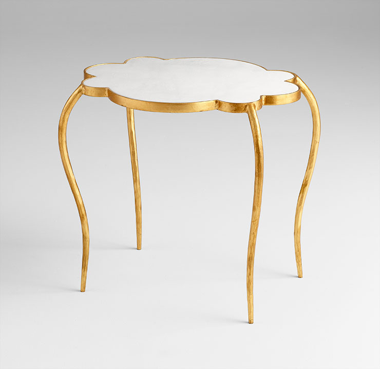 Small Flora Brass Side Table